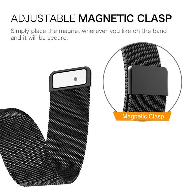 XShum, correa de Metal de acero inoxidable para Fitbit Versa, correa de muñeca, pulsera magnética milanesa, compatible con bit Lite, versículo 2, accesorios de banda