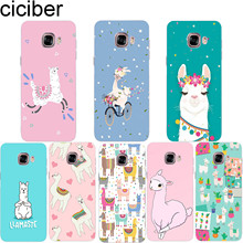 ciciber Cute Llama Animals Phone Case for Samsung Galaxy Note 9 8 3 4 5 Soft TPU Cover C7 C9 C8 C5 Pro 2017 Coque