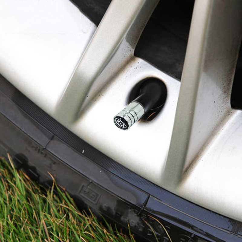4 個車スタイリング新メタルホイールタイヤバルブキャップ幹ケース起亜 K2 K3 K5 ソレント Sportage R Rio Soul キャップ自動車の付属品