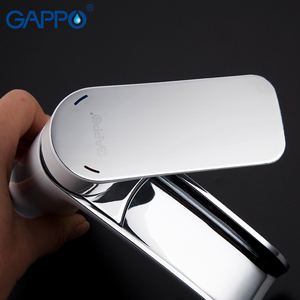 Image 3 - GAPPO Basin Faucets bathroom tap basin mixer white sink faucet tap chrome waterfall faucet tap washbasin bath faucet brass mixer
