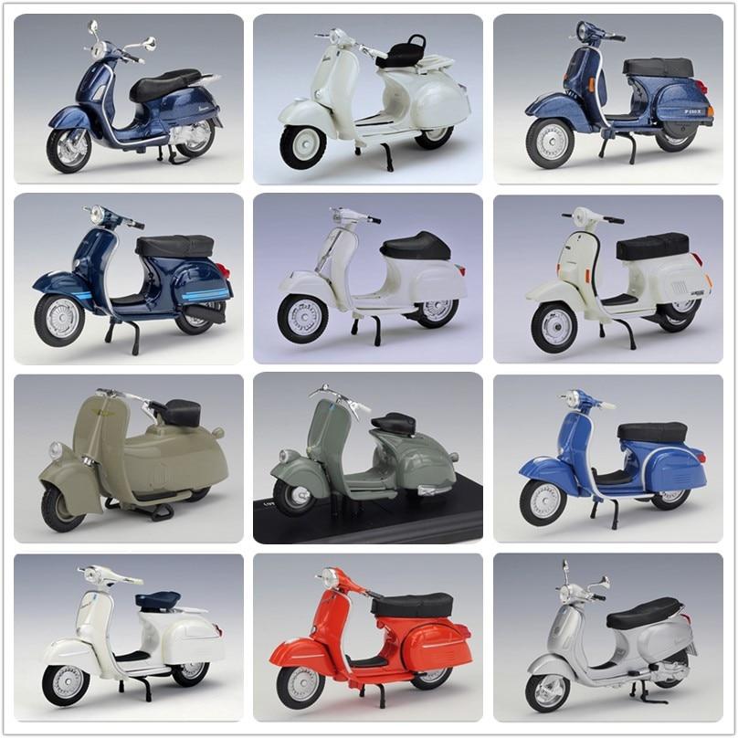 Maisto 1:18 Scooter Vespa Piaggio Model Bike Diecast Miniature Motorcycle