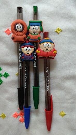 Image 5 - 100pcs Mixed by Random Cartoon Mini Figure PVC Pencil Toppers Pen Caps Stationery School/Office DIY Supplies Kid Xmas GiftStationery Set   -