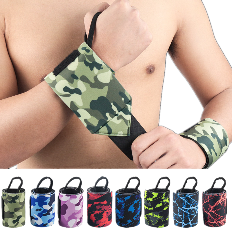 1 Piece Wrist Wraps Hand Straps Elastic Wristband Weightlifting Powerlifting Crossfit Wrist Support Training Execrise Protector in Wrist Support from Sports Entertainment
