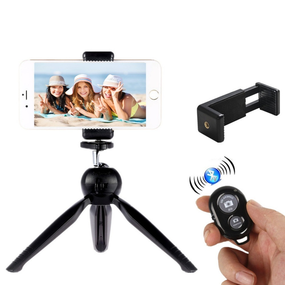 Flexible Cell Phone Tripod for iPhone, Any Smartphone with Universal Clip and Remote