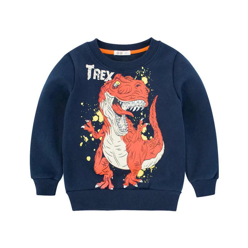 2018 New Dinosaur Hoodie Kids for Boys Long Sleeve Children Baby Toddler  Sweatshirt 2 3 4 9652e346a9f3
