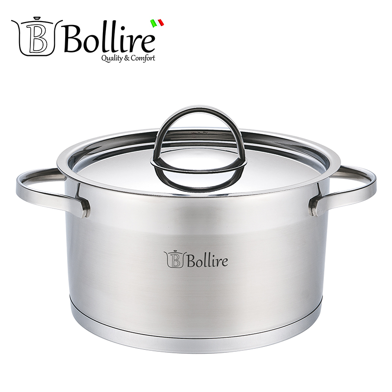 BR-2303 Casserole Bollire 3.4L 20cm Stainless steel AISI 201 Capsule Bottom Suitable for all types of plates compatible with all types of vacuum cleaner accessories brush head anti static sofa tip interface diameter 32mm