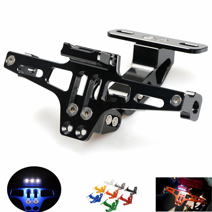 for  Universal Fender Eliminator License Plate Bracket Ho Tidy Tail motorcycle accessories For BMW F800S F800ST F800GS F650GS F8 for suzuki gsx r600 k6 motorcycle fender eliminator license plate bracket tail tidy tag rear for suzuki gsxr750 k6 2006 2007