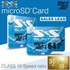 Suntrsi Sky Blue Micro SD Card Class 10 128GB 64GB High Speed Microsd Card For Smart