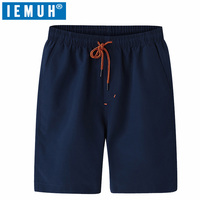 IEMUH Board Shorts Men Quick Dry Swimwear Men Sweat Board Shorts Gmy Running Shorts Surfing Beach
