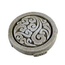 Silicone Mold for Paperweight Tool Round with Traditional Chinese Style Pattern Handmade Craft Cement Decoration