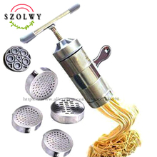 Noodle-Maker Pasta-Machine Press Cooking-Tools Spaghetti Stainless-Steel with 5-Models