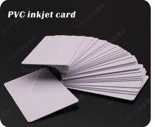 100 błyszczący białe puste drukarek atramentowych PVC do druku kartę wodoodporny plastikowe karty ID biznes karty nie czip do urządzeń firmy Epson do drukarki Canon