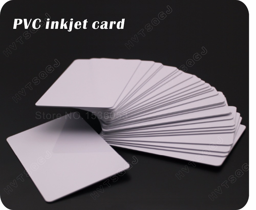 100 glossy White Blank inkjet printable PVC Card Waterproof plastic ID Card business card no chip for Epson for Canon printer-in IC/ID Card from Security & Protection