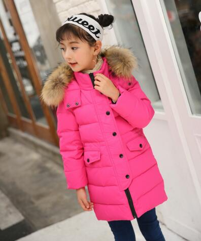 Children Cold Winter down Jackets New Girls Boys Fur Collar Hooded Down Coats Kids Outerwear Thickening Warm Parkas buenos ninos thick winter children jackets girls boys coats hooded raccoon fur collar kids outerwear duck down padded snowsuit