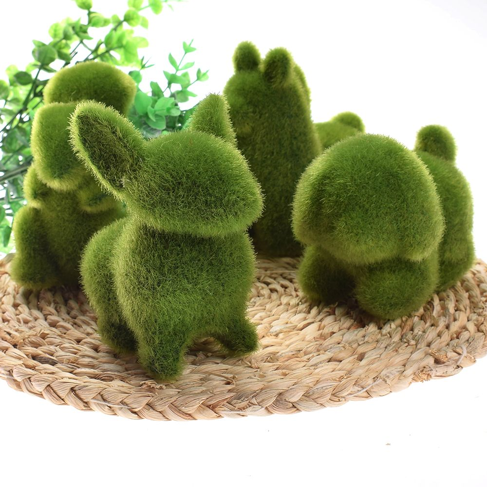 Cute Animal Shape Simulation Green Grass Ornaments Emulational Green Plant Bonsai Grass Animal Decoration For Home Garden ...