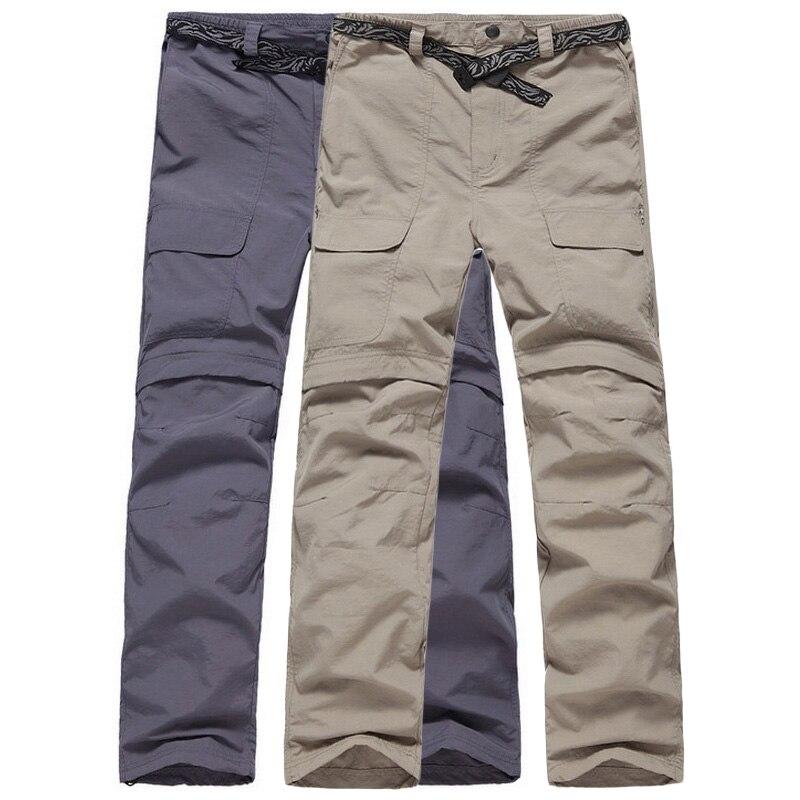 CavalryWalf Detachable Quick Dry Outdoor Hiking Pants Men Mountain Climbing Trousers Summer Camping Trekking Sport Pants,AM004