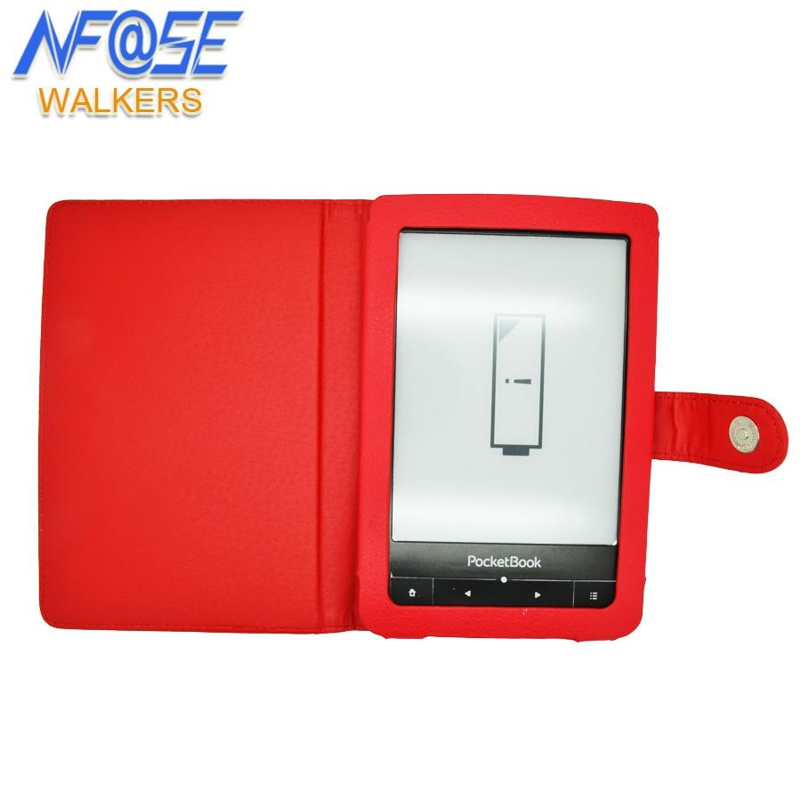 PU caso della copertura del cuoio per pocketbook tocco 622/623/624/614/626/640 e-libri Case cover + film + stylus pen