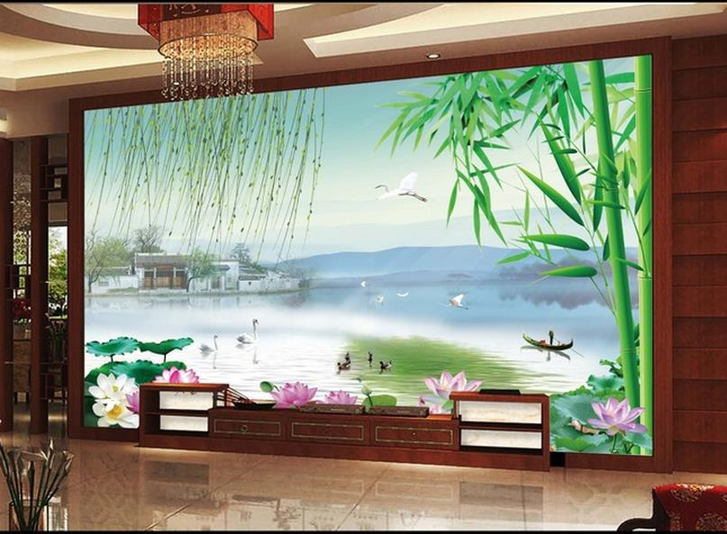 3d Wall Murals Wallpaper,photo Rhyme Landscape Wall, High End Mural For Tv  Sofa Background Wall ,papel De Parede Floral In Wallpapers From Home  Improvement ... Part 23