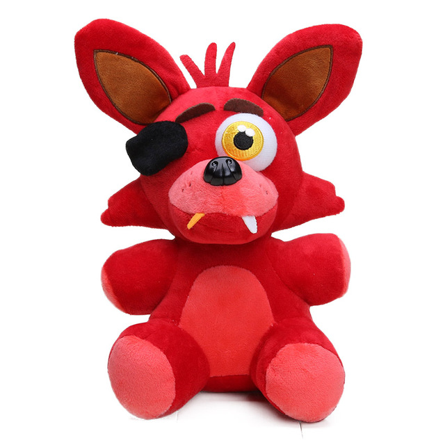 25cm Freddy Fazbear Plush Toys Golden Bear Nightmare Cupcake Foxy Balloon Boy Clown Stuffed Dolls 3