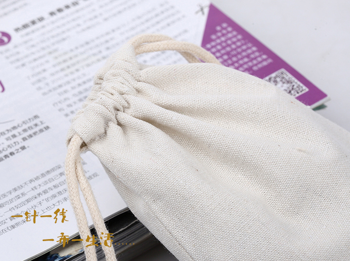 High Quality Cotton Canvas Customized Small Drawstring Bag Canvas Fabric Jewelry Bag Wholesale Custom Gift Bag For Jewelry Gift