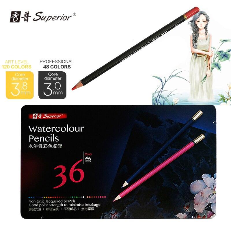 Supérieure 36 crayon De couleur Lapis De Cor Prismacolor ensemble De crayons De couleur pour dessin croquis papeterie crayon fournitures d'art scolaire
