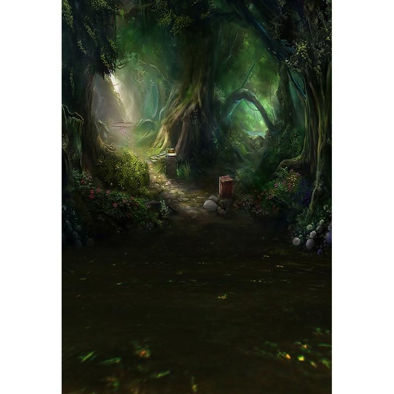 Vinyl Photography Background Fairy Tale Forest Children Backdrops for Photo Studio ZH-22 red pumpkin photography background fairy tale hallowmas background computer printed photo backdrops for photo studio bg 214