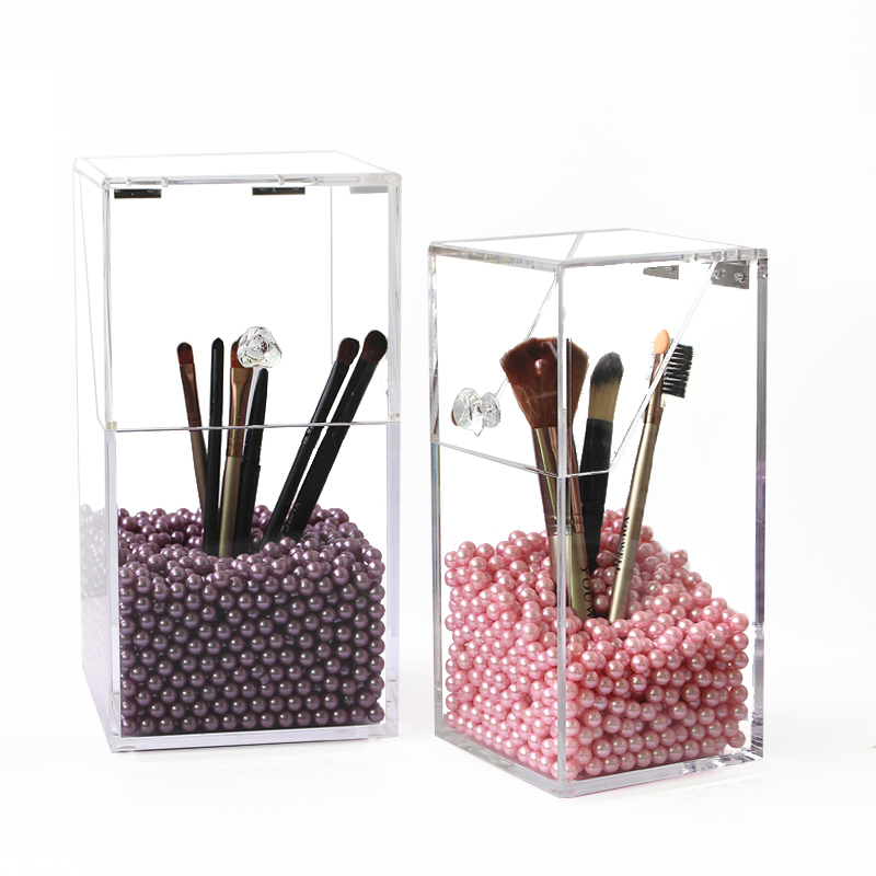 Saving Space Desktop Makeup Brush Holder Comestics Makeup Organizer Storage Display Box
