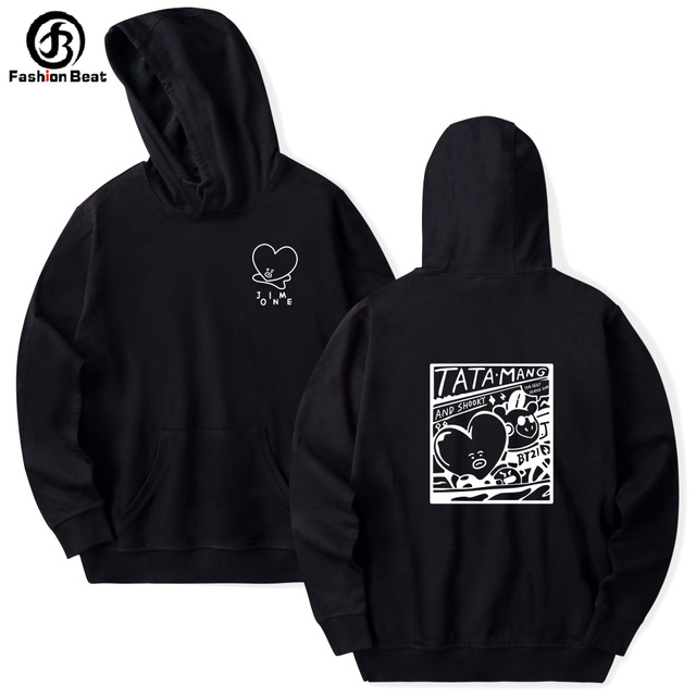 2be00d4025 US $14.08 39% OFF|Bt 21 Tata Hoodie Bts Bt21 Hoodies Kim Tae Hyung MANG  Hoody Unisex Hooded Clothes Autumn Winter Fashion Plus Size Sweatshirt-in  ...