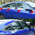 LHD CHROME BUTTOM WINDOW SILL TRIM SURROUND COVER MOLDING LINING ACCENT GARNISH STAINLESS 8PCS/SET FIT FOR 2016 2017 HONDA CIVIC