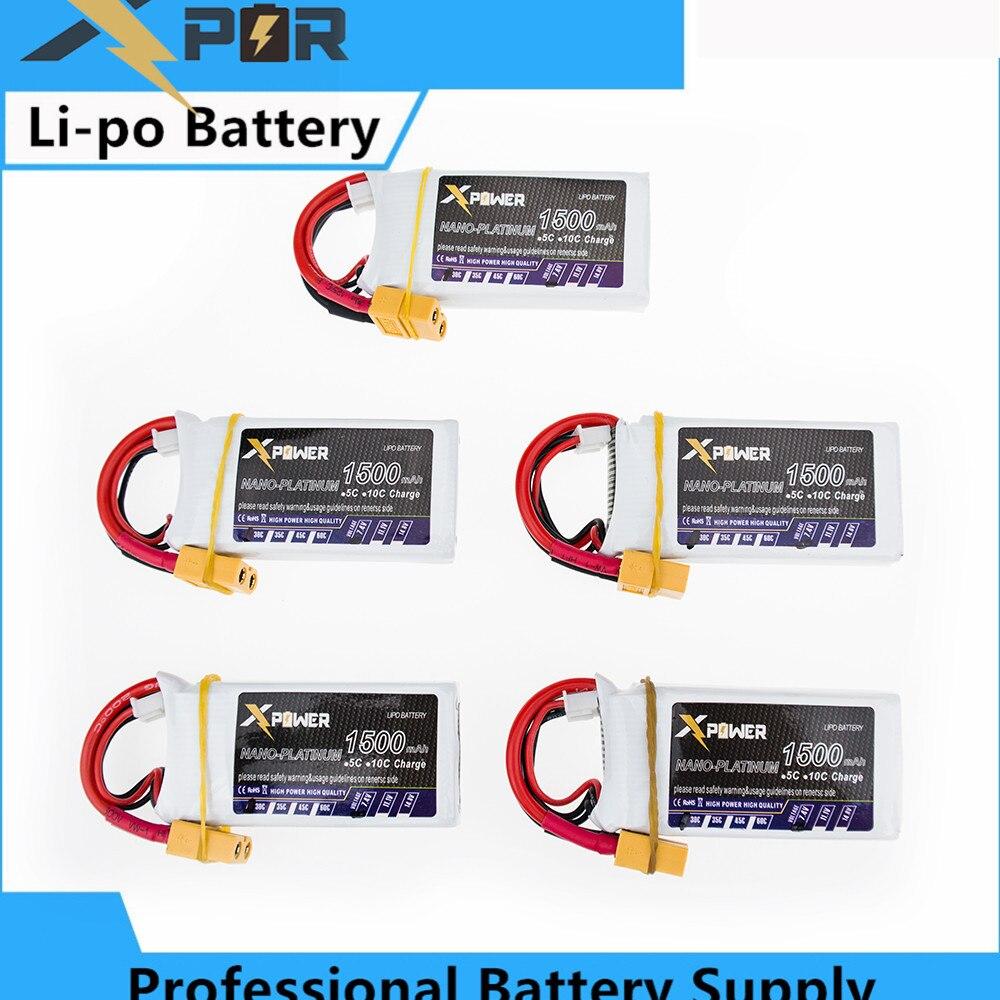 5PCS WLtoys 12428 Drone Bateria 7 4V 1500mAh 30C MAX 35C 2S XT60 T Li po