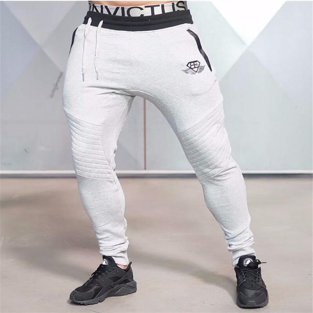 2016 Nova Marca de Roupas de Algodão dos homens Basculador Casuais Calças Elásticas