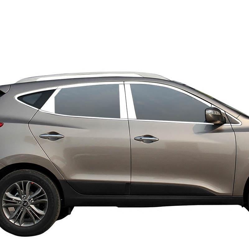 Auto Window Rear Bumper Door Handle Automobile Chromium Modified Car Styling Sticker Strip 10 11 12 13 14 15 16 FOR Hyundai IX35
