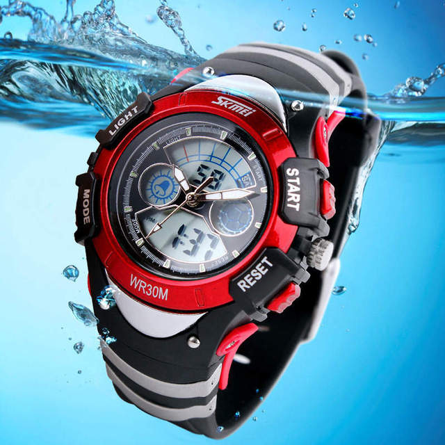 Swim Children's Watch Multifunction Child Alarm Clock LED Electronic Digital Stu