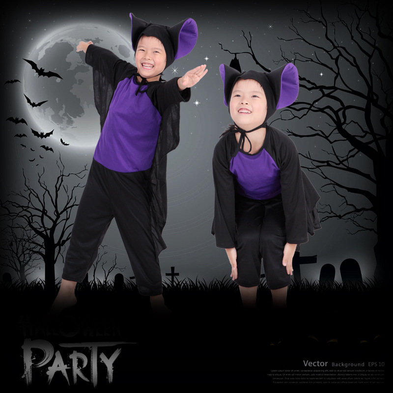 Halloween Costume COSPLAY Dance Party Show Props Cute Siamese Bats Clothes For Kids 228g devil may cry 4 dante cosplay wig halloween party cosplay wigs free shipping