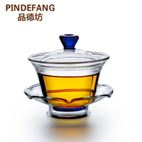 3in1 Colorful Glass Cup, Lotus Shaped Saucer Gift set Health Cozy TeaTime Kung Fu Tea Bowl Office Gift Birthday Warming Teaset