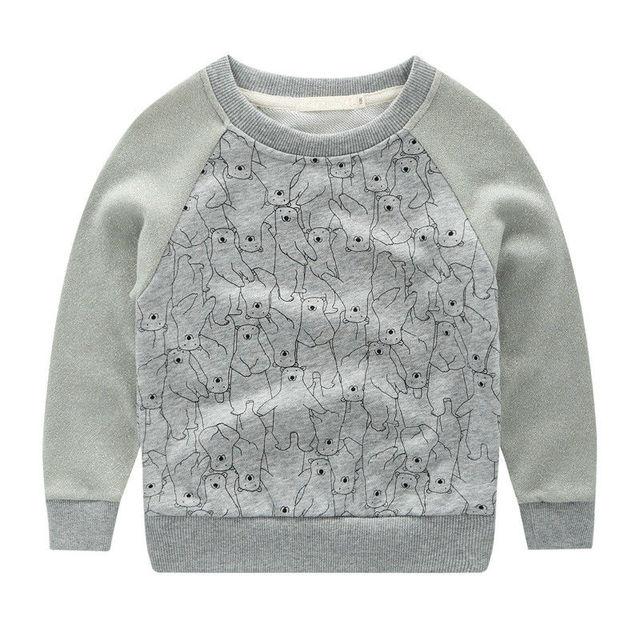 Para T-shirt Das Meninas Dos Meninos Swearshirt Outono Inverno New Próxima Marca Impressão Little Bear Crianças T-shirt da Camisola Tops Crianças Tees O Pescoço