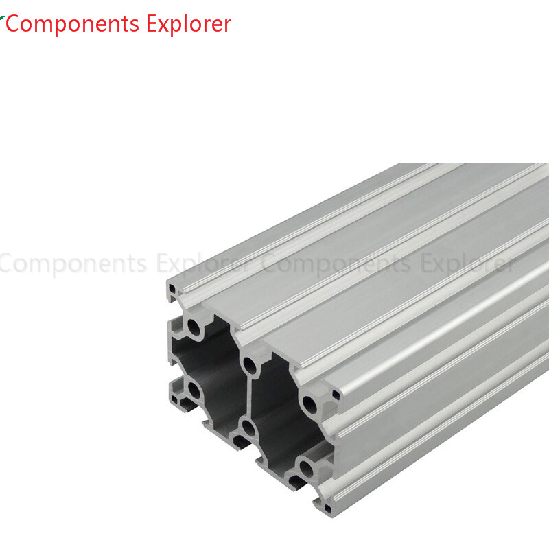 Arbitrary Cutting 1000mm 6090 Aluminum Extrusion Profile,Silvery Color.