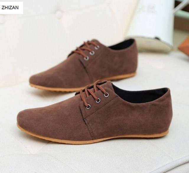 46722865357 WS59 Hot Sale Spring Autumn Fashion Men Shoes Mens Flats Casual Suede Shoes  Comfortable Breathable Flats Driving Loafers