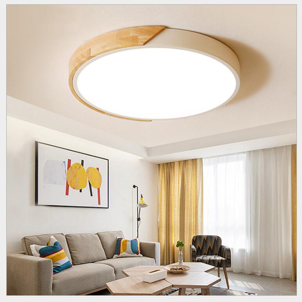 FULOC LED Ceiling Light Modern Lamp Lighting Fixture Surface Mount Remote Control
