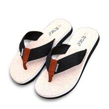 Новые летние Брендовые мужские вьетнамки с принтом из ЭВА и ленты; Нескользящие мягкие домашние шлепанцы; повседневные пляжные сандалии