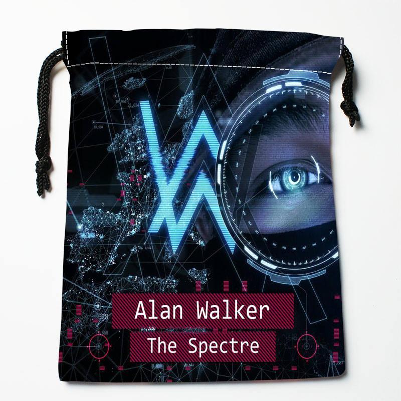 High quality Custom Alan Walker printing storage bag drawstring bag gift Satin bags 27x35cm Compression Type