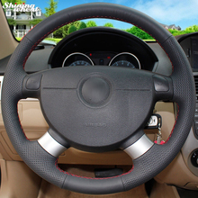цена на Hand-stitched Car Steering Wheel Cover for Chevrolet Aveo Lova Buick Excelle Daewoo Gentra 2013-2015 Chevrolet Lacetti 2006-2012