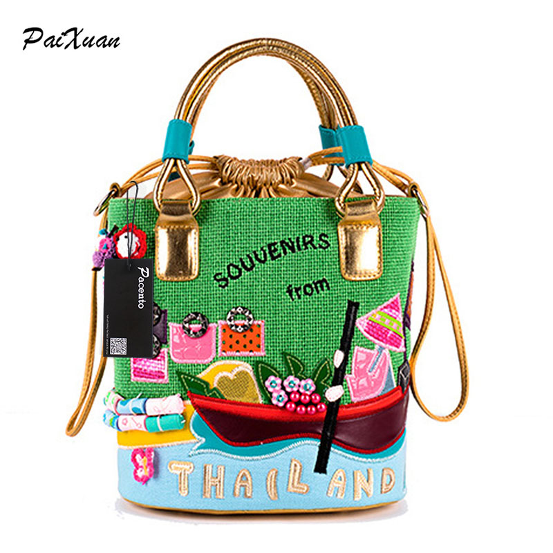 2017 borsa braccialini women handbag shoulder bucket bags italy ladies Italy bag handbags purse tottyblu bolso mujer handtasche famous brand women canvas bags shoulder bag italy handbag style retro handmade bolsa feminina braccialini for ladies mexico bags