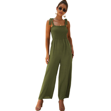 Sling jumpsuit fashion womens 2019 summer new hot-selling thin section loose wide-leg pants
