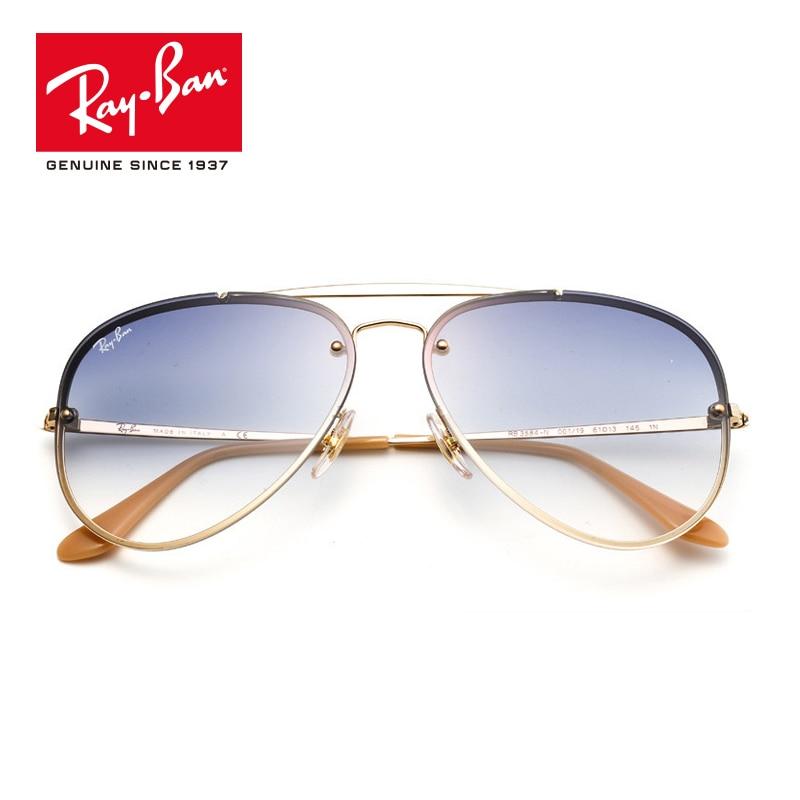 RayBan Original Blaze Flat Lens Pilot Aviator Sunglasses RB3584N-001/19 все цены