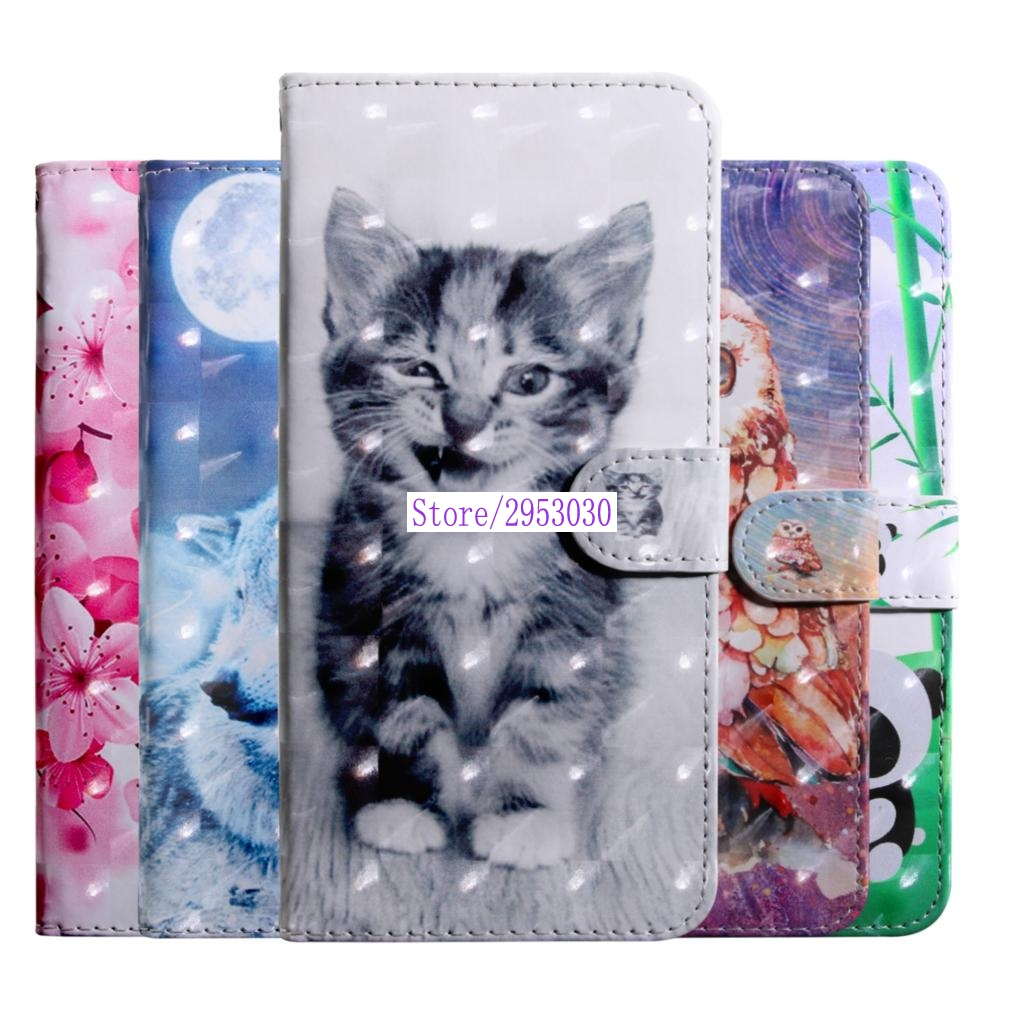 For <font><b>Sony</b></font> Xperia XA1 XA 1 LTE Dual G3121 G3316 <font><b>G3112</b></font> 3D Painting Flip Case PU Wallet Leather Cover Phone Case For <font><b>Sony</b></font> XA1Cases image