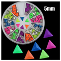 2016 Fashion New diy 5mm Triangular Fluorescent Jewelry Metal Rivets Nest Nail / Rivet Nail Patch for Nail Art Decorations 6cm