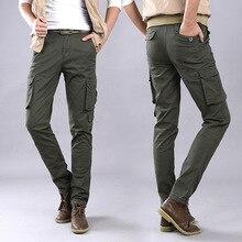 Фотография Autumn Military Cargo Pants Men Baggy Tactical Trousers Oustdoor Casual Cotton Cargo Pants Men Multi Pockets Big size 6808