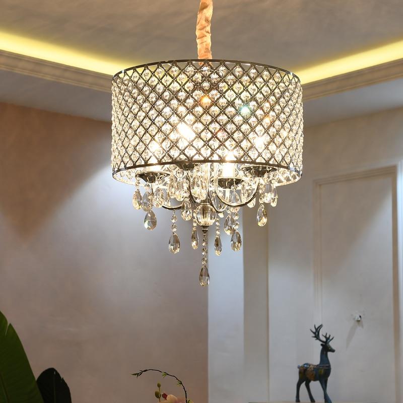 Modern LED Crystal Chandelier Lighting Nordic Dining Room Fixtures Living Room Hanging Lights Bedroom Pendant Lamps