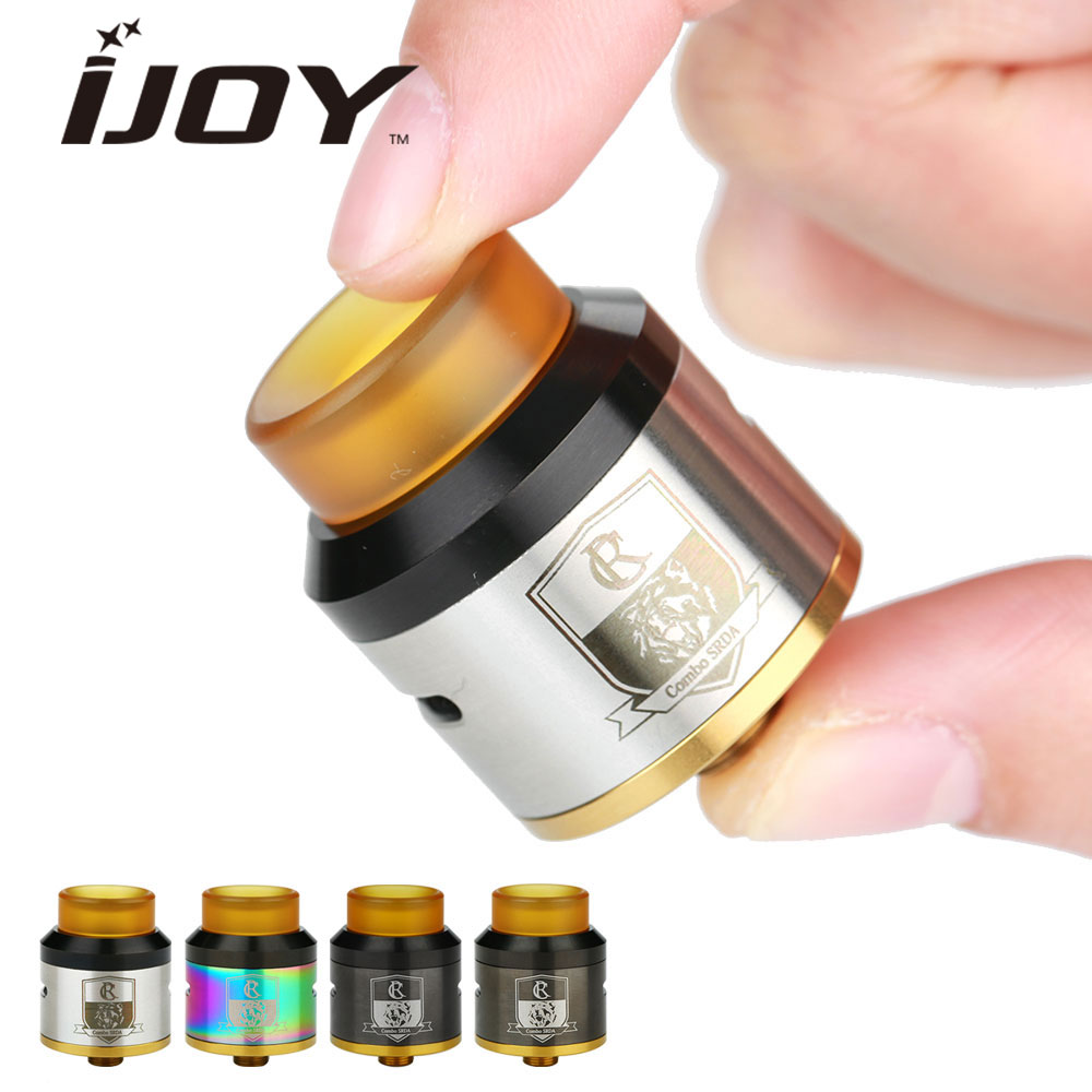 Original IJOY COMBO SRDA Tank W 810 Wide Bore Ultem Drip Tip For Squonk MOD Electronic